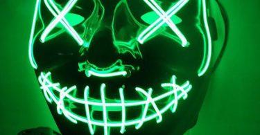 Glowing LED Horror Mask