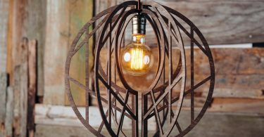 Geometric Chandelier Wooden Hanging Lamp