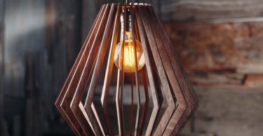 Wooden Geometric Light Chandelier