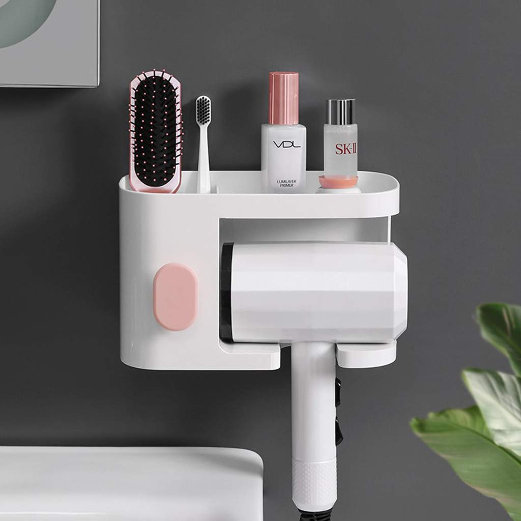 Suction Cup Hair Dryer Shelf Storage