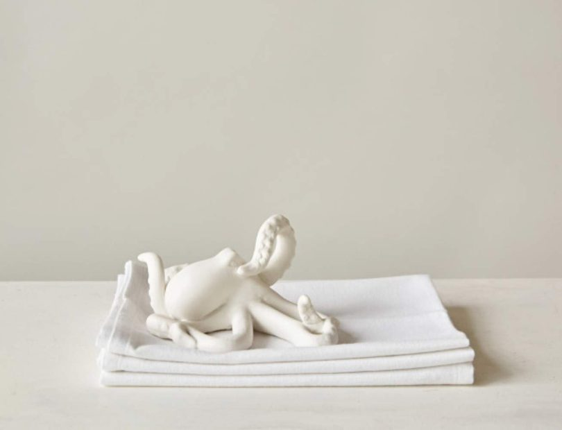 Creative Co-Op DE7749 Decorative White Bisque Octopus