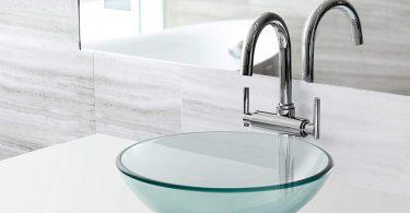 Miligore Modern Glass Vessel Sink