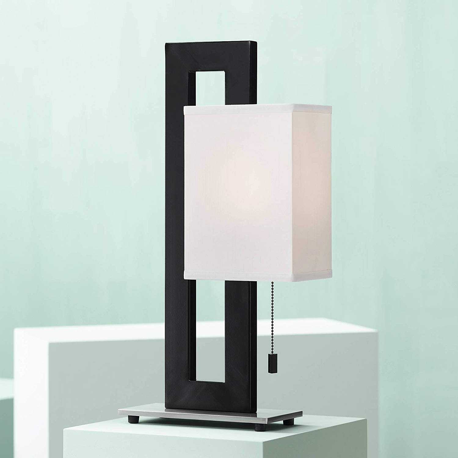 Floating Square Modern Accent Table Lamp