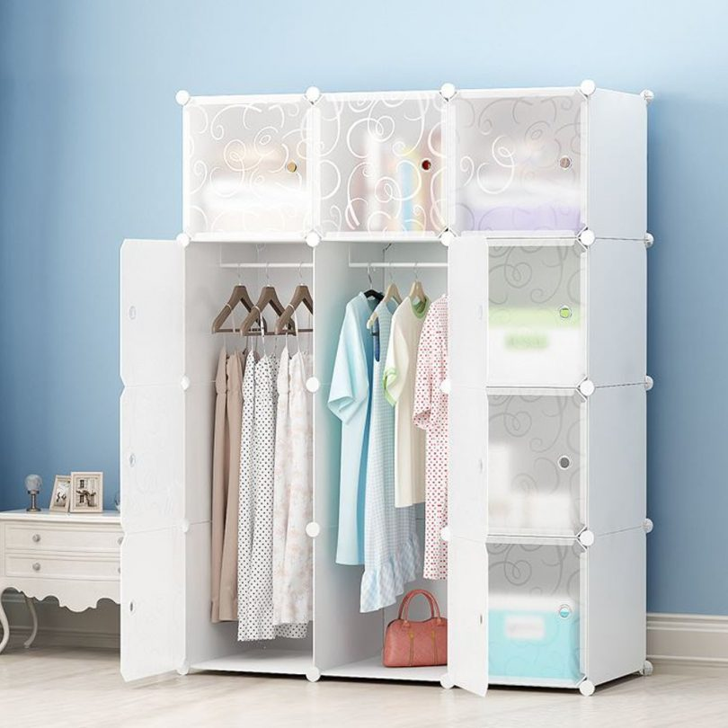 JOISCOPE DIY Portable Wardrobe Clothes Closet Modular Storage Organizer