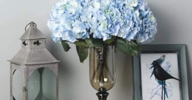 Jasion Artificial Flowers Hydrangeas Flowers 5 Big Heads Silk Bouquet