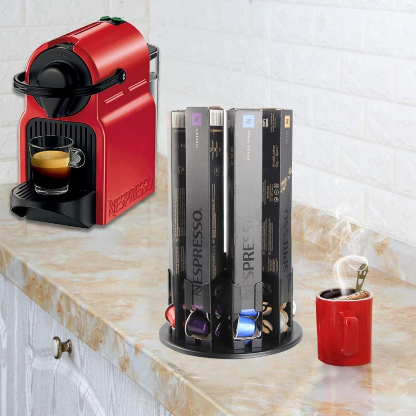 Flagship Capsules Holder Carousel Rack Revolving Stores Coffee Pod Holder