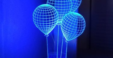 CHIMAERA 3D Magical Optical Illusion Balloons Lamp