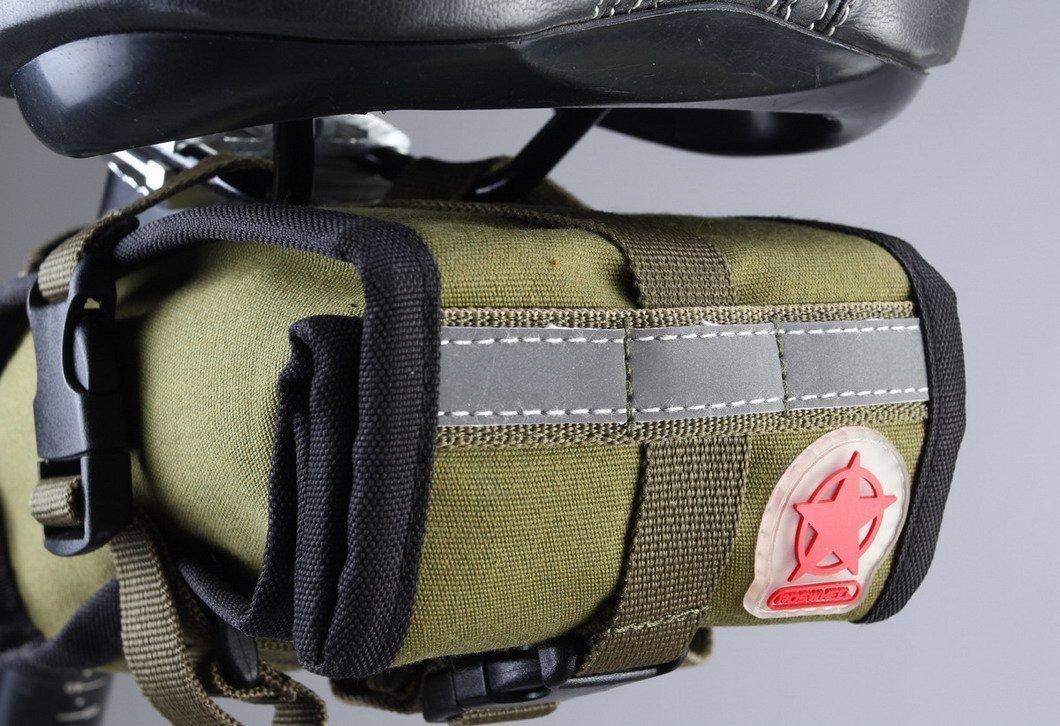 ArcEnCiel Canvas Folding Cycling Seat Bag Road Bicycle Bike Personalized Saddle Bag Basket