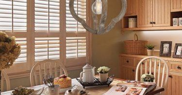 DOCHEER 1-Light Vintage Wooden Iron Chandelier Pendant Lamp