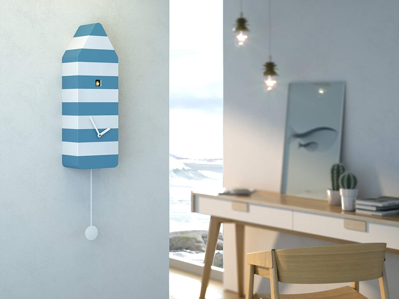 Propegetti Progetti Capri White Blue Wall Cuckoo Clock