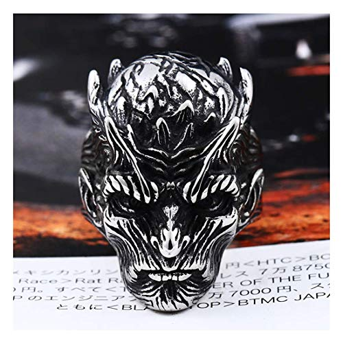 ZMY Mens Punk Jewelry Stainless Steel Ring