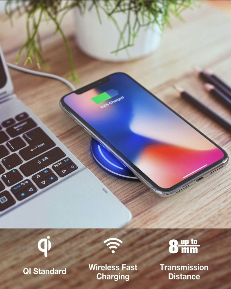 Wireless Charging Pad for QI Enabled Devices
