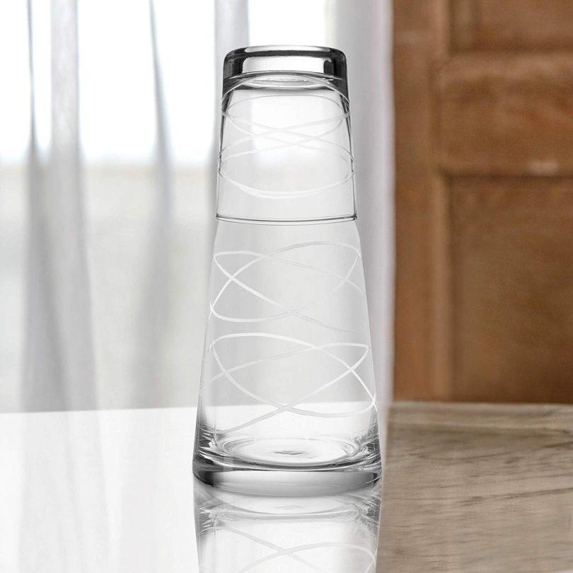 Fifth Avenue Crystal 229814-S2GB Medallion Swirls Bedside Water