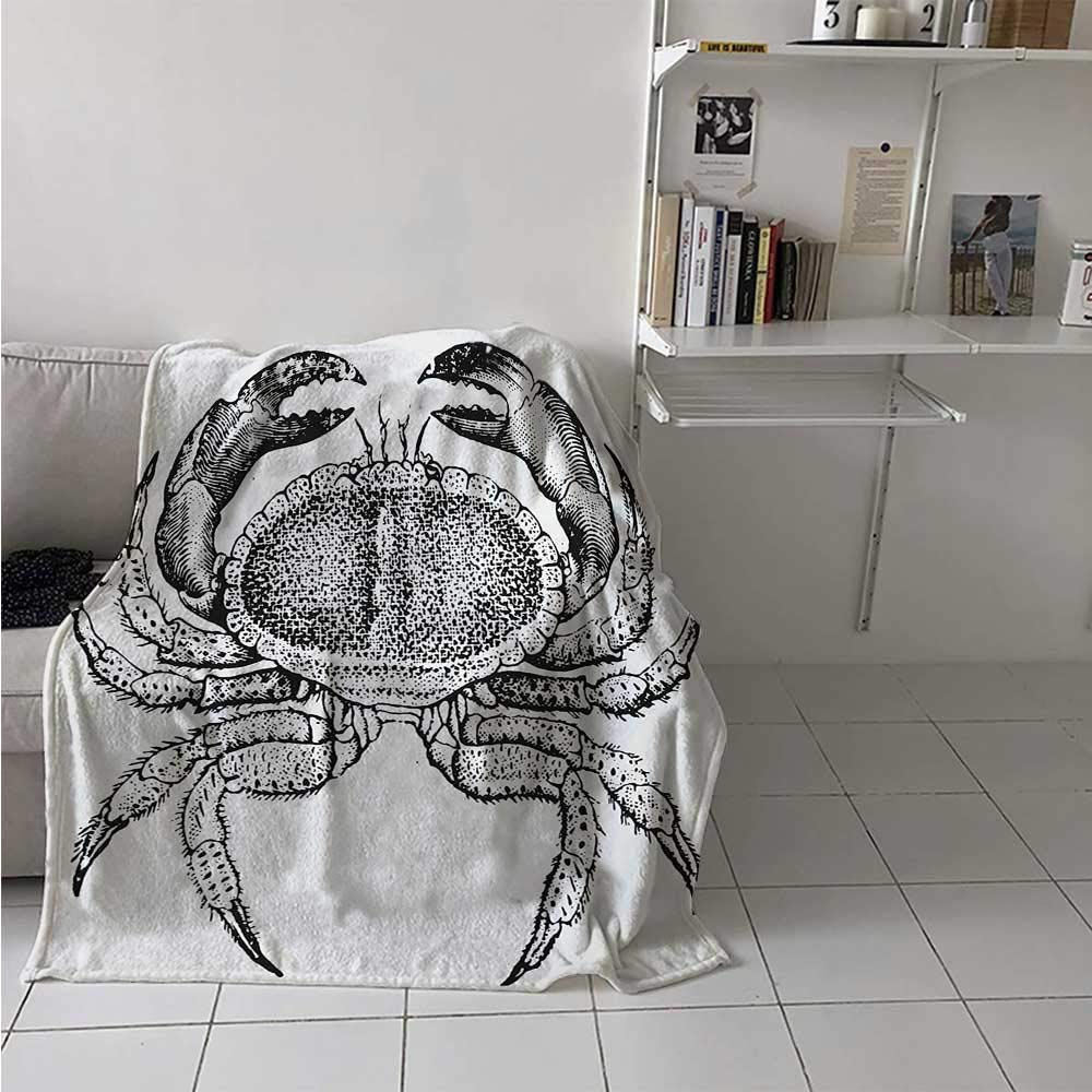 maisi Crabs Digital Printing Blanket Seafood Themed Design