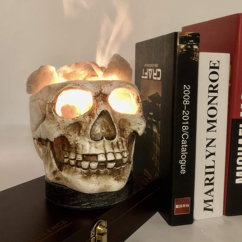 Halloween 3d skull salt lamp USB salt lamp dimmable USB night light