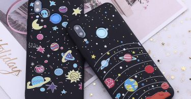 Huawei Honor Mate 10 20 Nova P20 P30 P Smart Space Moon Astronaut Stars Candy Silicone Phone Case Cover