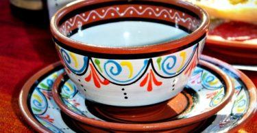 Terracotta White Tapa Plates Set of 5