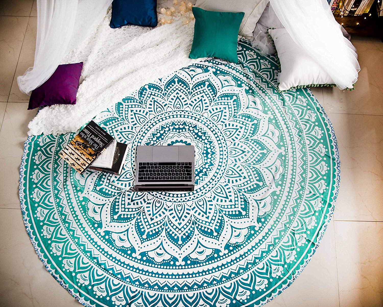 Mandala Tapestry Round Beach Towels