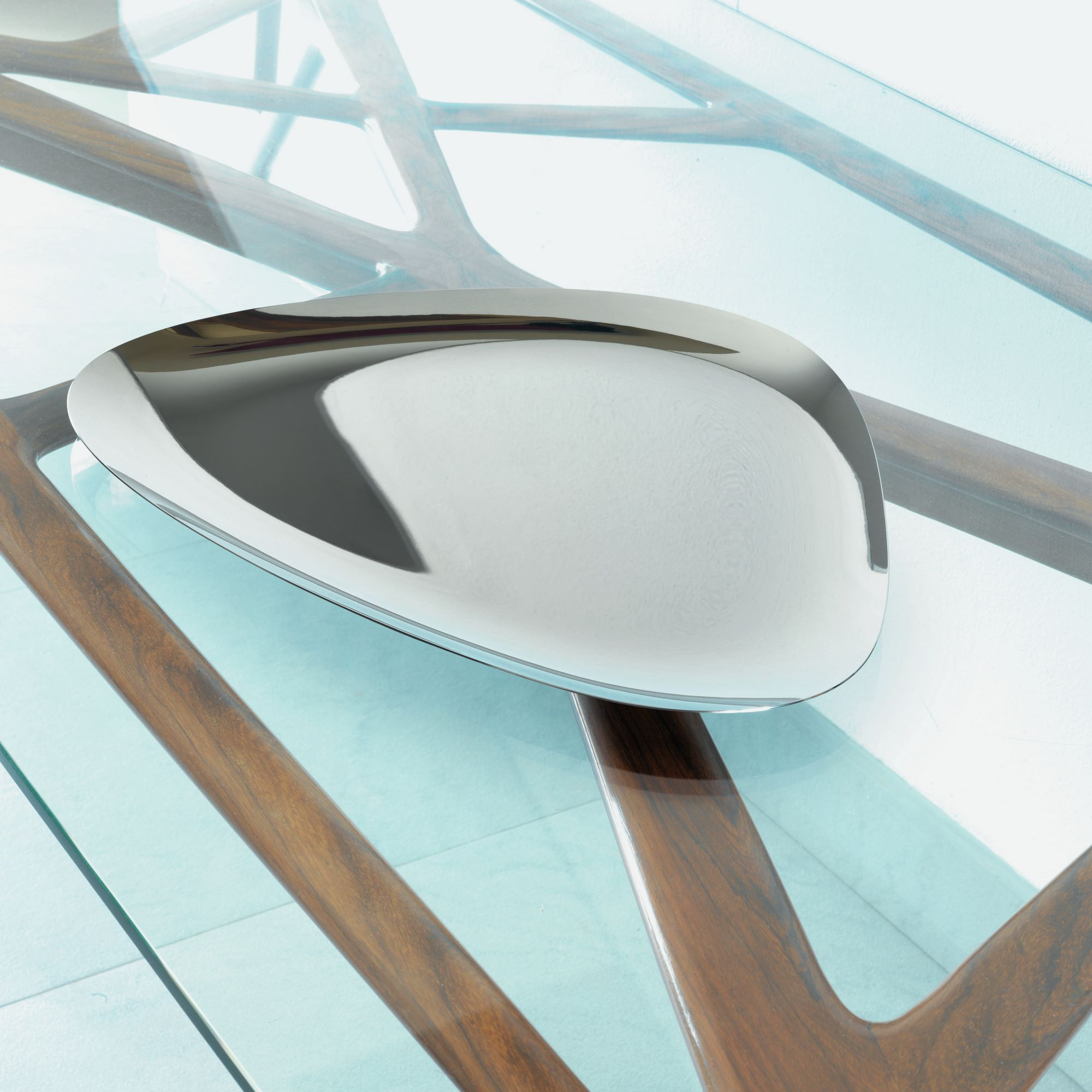 Alessi Colombina Polished Stainless Steel Tray