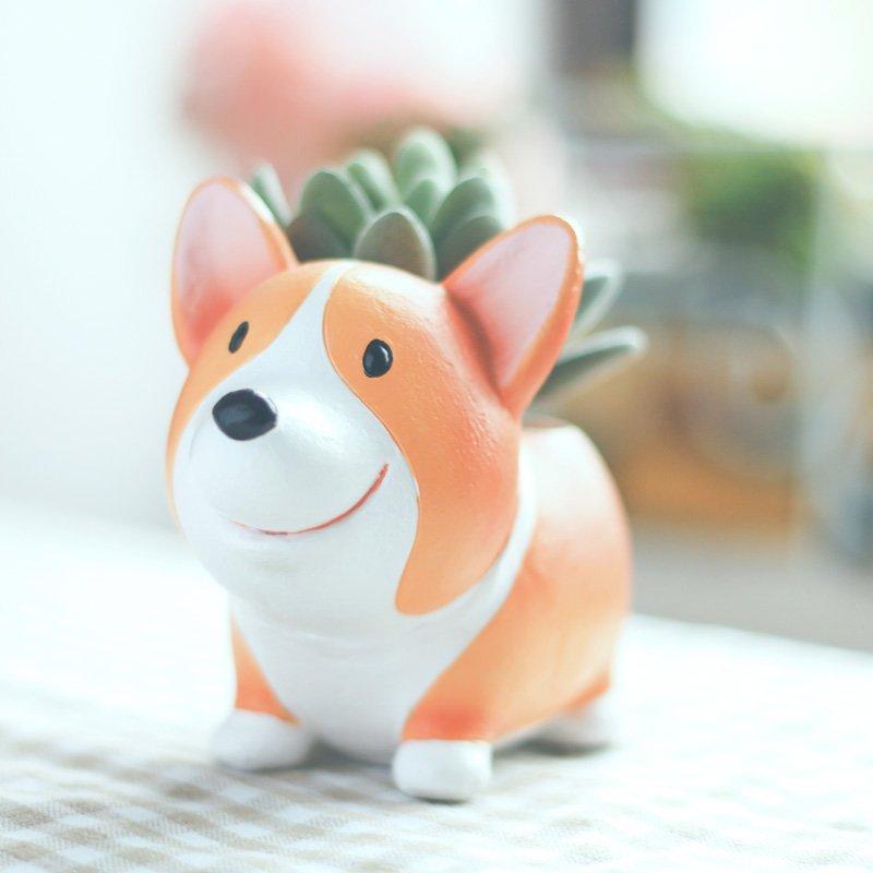 Mini Dog Flowerpot