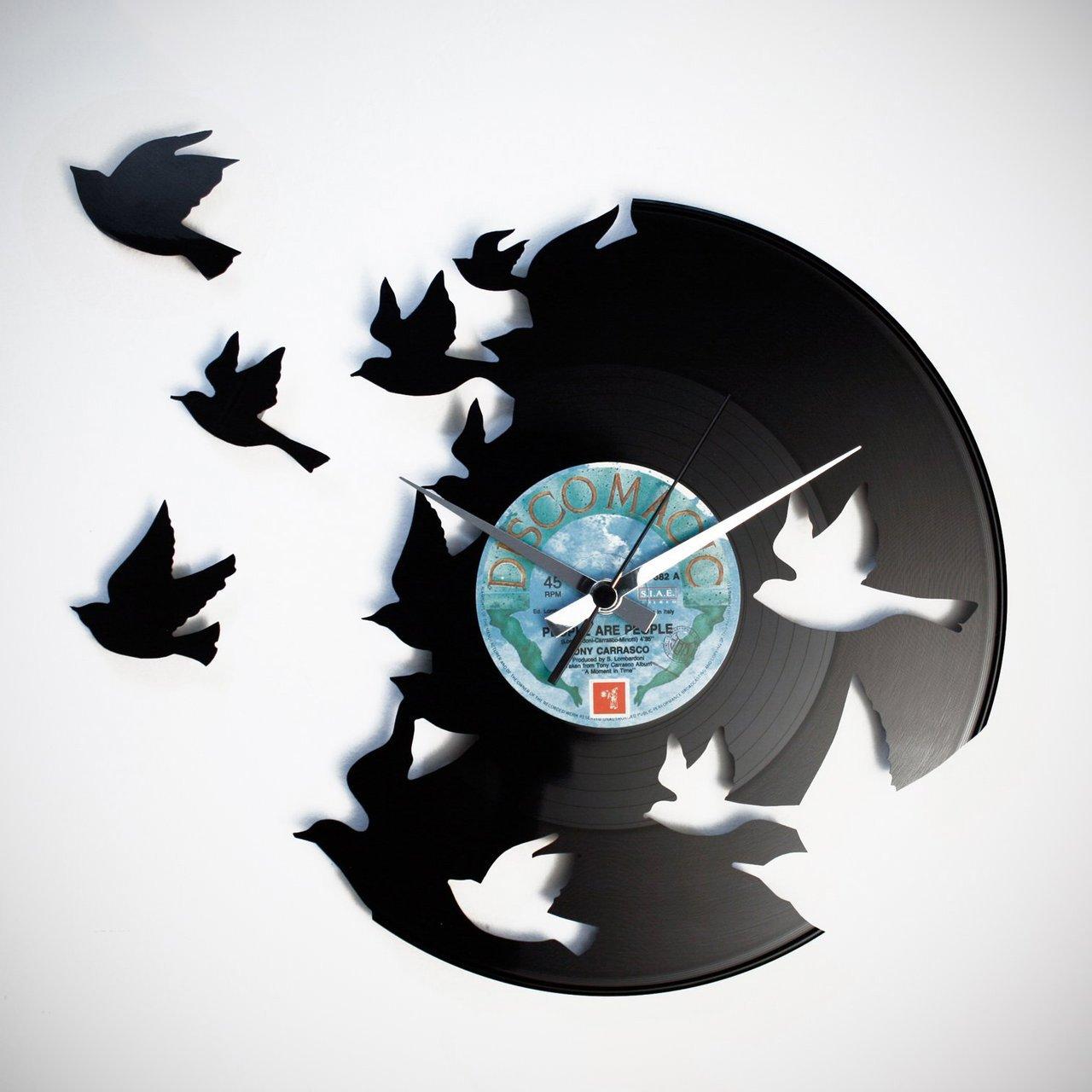 Birds Vinyl Wall Clock