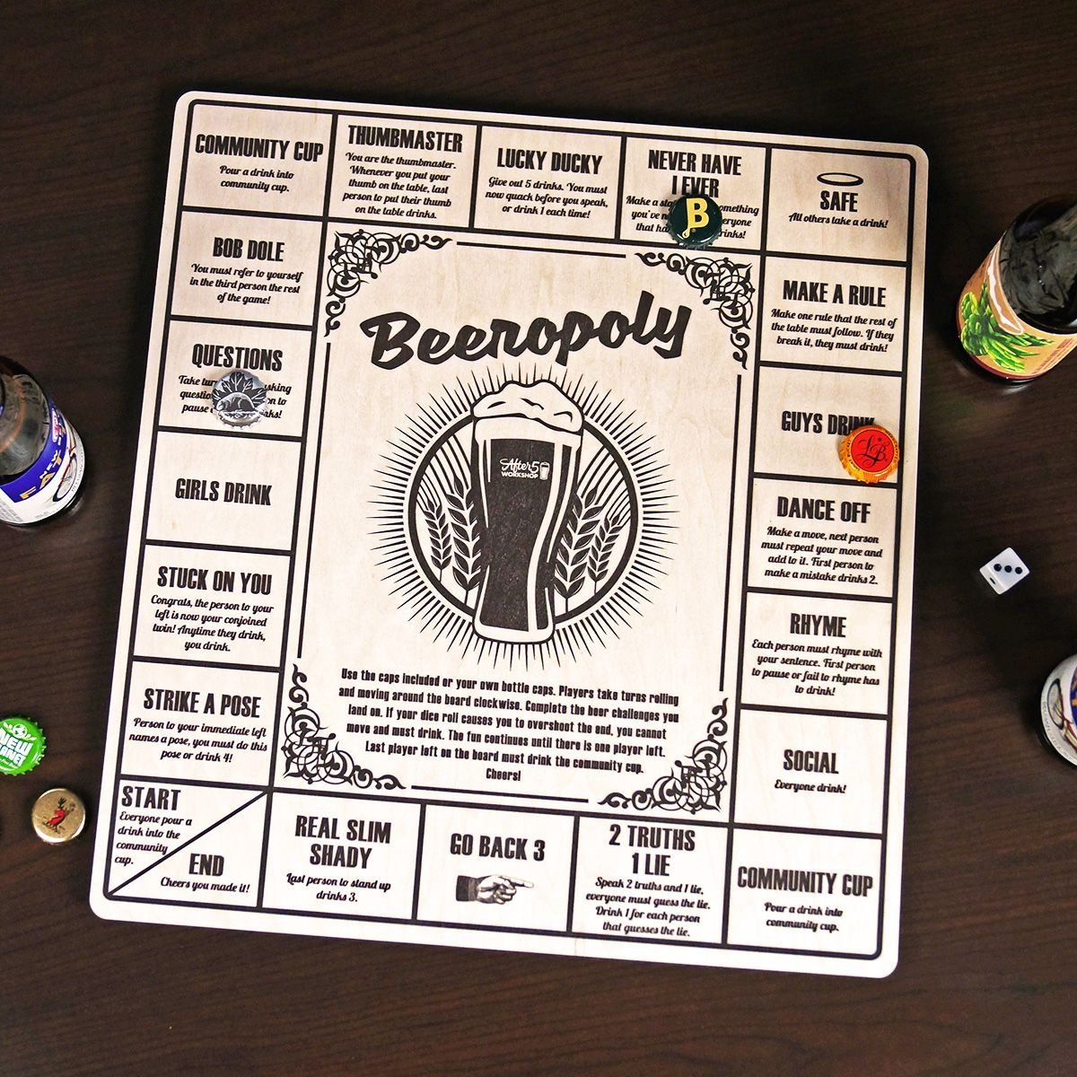 Beeropoly Drinking Game by HomeWetBar