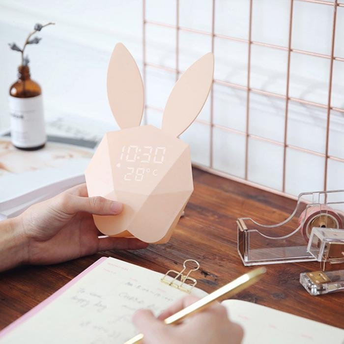 Bunny Rabbit Alarm Clock & Temperature Digital Display