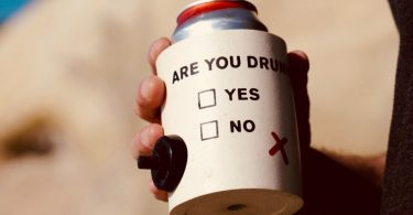 Are You Drunk Foam Can Cooler w/ Party Button by SUPERKOLDIE