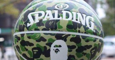 Bape x Spalding ABC Camo Basketball Green