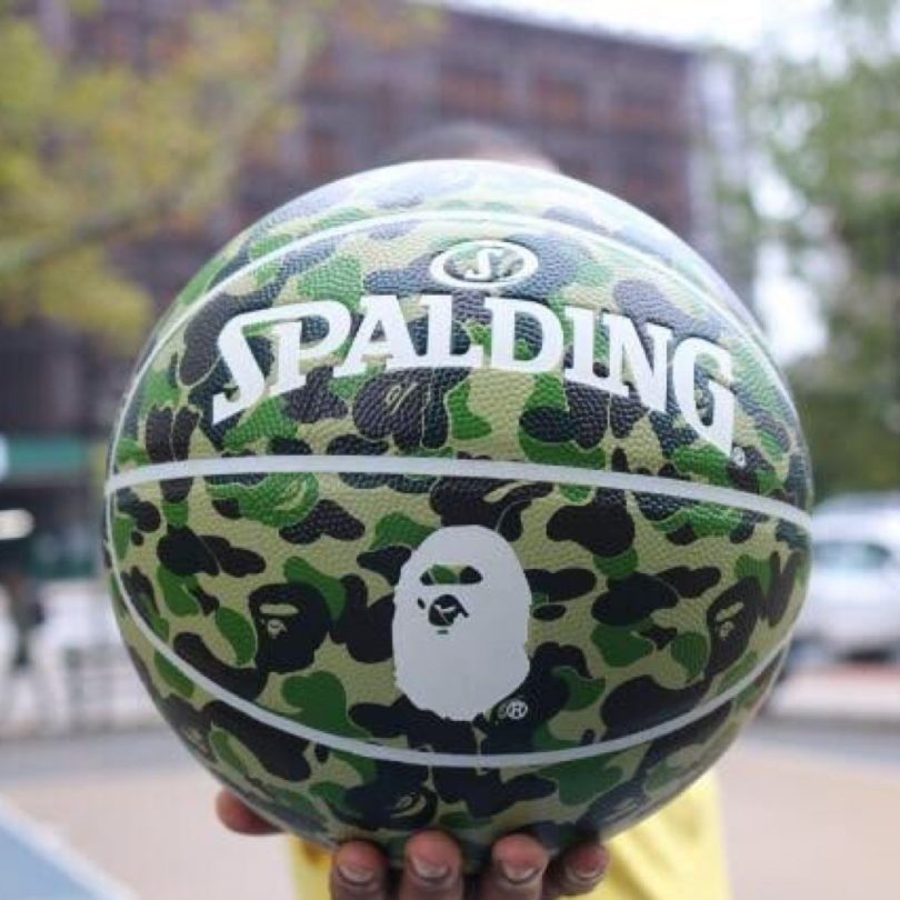Bape x Spalding ABC Camo Basketball Green