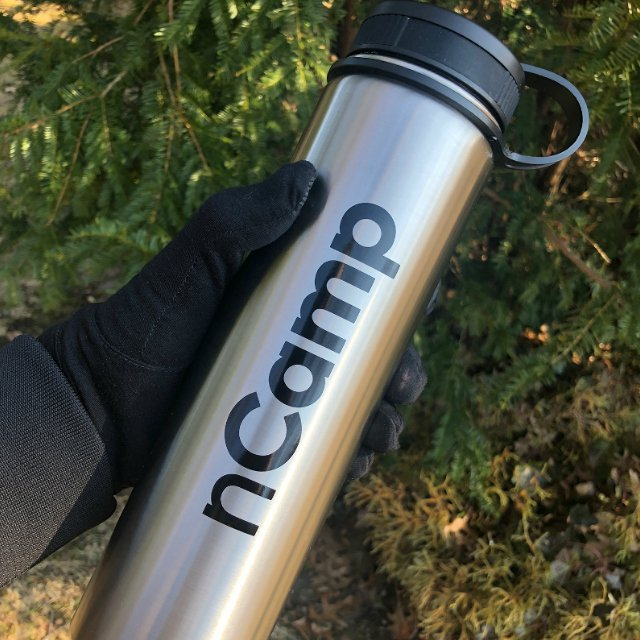 nCamp 24 oz Stainless Steel Water Bottle
