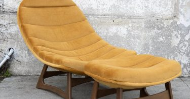 Sunbeam Vintage Collection Banana Lounge Chair & Ottoman