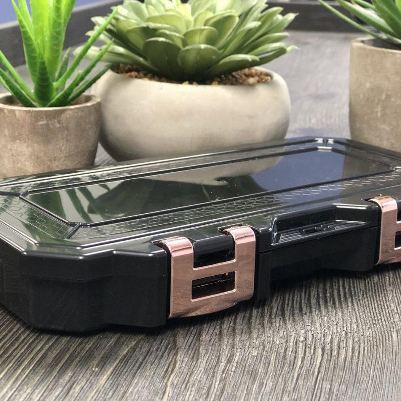 Glamour Lock Black Travel Box-Small