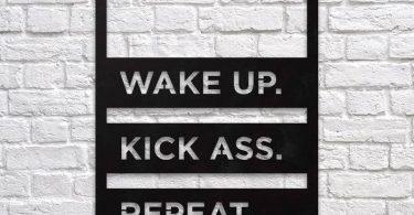 Wake Up Metal Wall Art