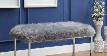 Monet Lux Fur Bench