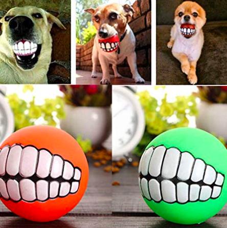 Funny Teeth Dog Ball