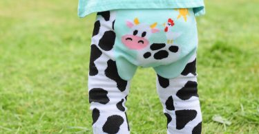 Teal Cow Leggings