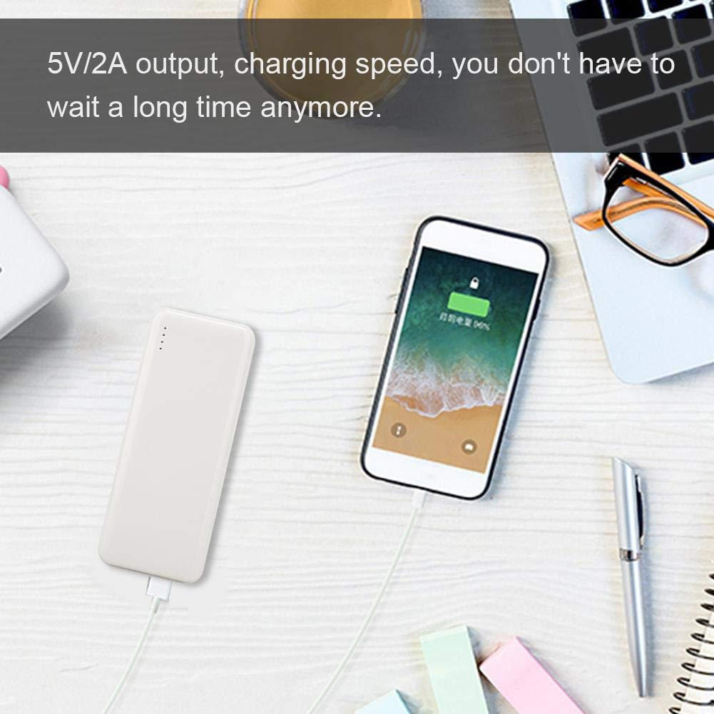 Famus Large Capacity Mobile Power Power Bank Mobile Phone Universal Fast Charger BOX-S400 10000mAh White