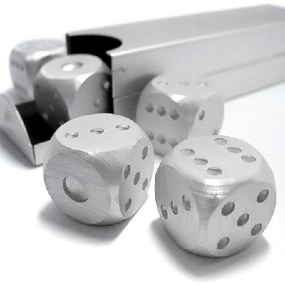 MEKBOK Aluminum Dice 5 in 1 Set Travel Case