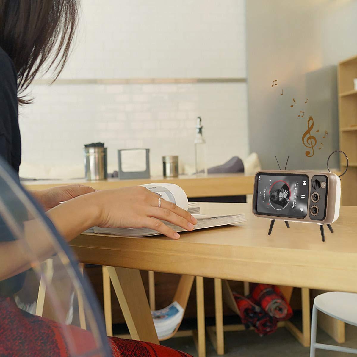 Retro phone holder & speaker