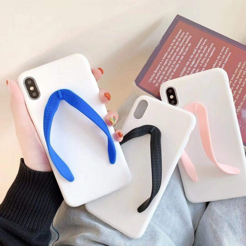 Cute 3D Matte Slippers Phone Case