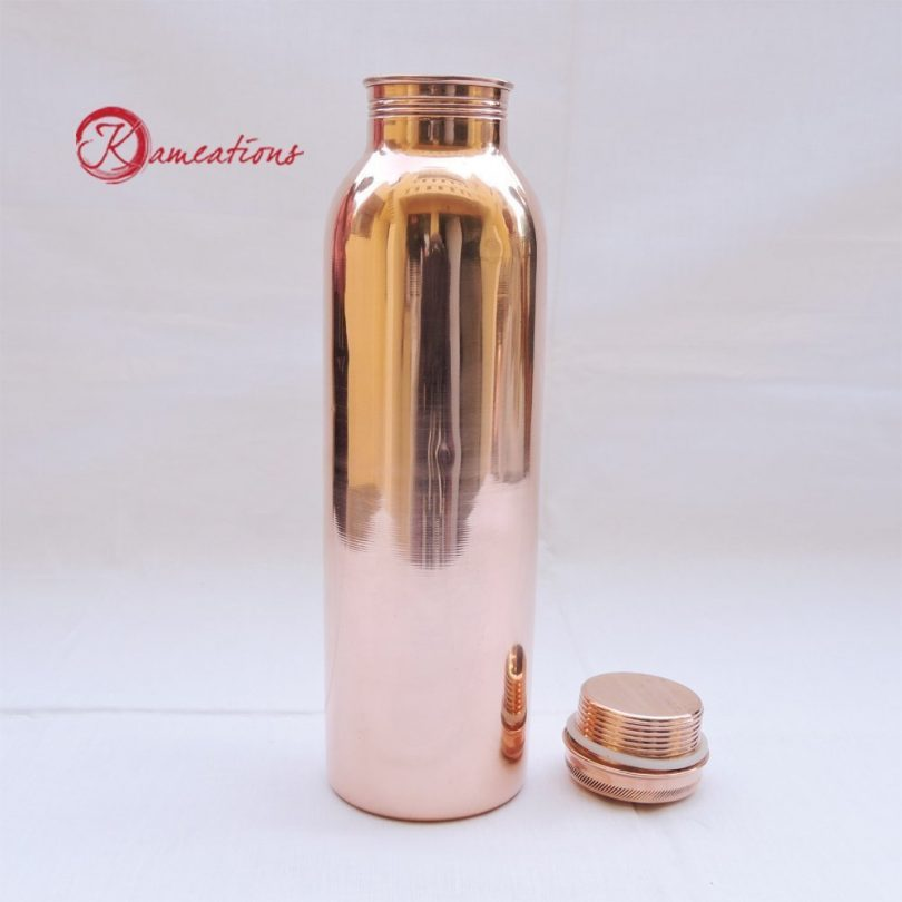 kameations Copper Yoga Water Bottle