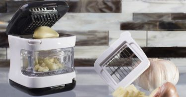Kitchen Gizmo, Garlic Press- Innovative 3-in-1 Garlic Cube