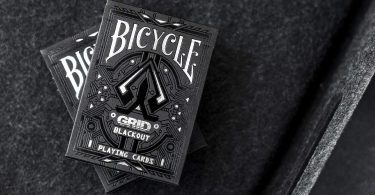 Bicycle Grid Blackout Playing Cards Poker Deck Glows in UV Light
