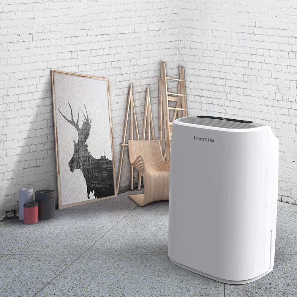 Inofia 30 Pints Dehumidifier Mid-Size Portable For Basements and Large Rooms