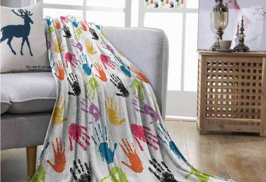 Homrkey Office Blanket Kids Colorful Children Print