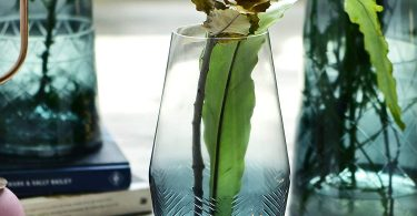 Cyl Home Vases Translucent Turquoise Clear Glass Flower Arrangement Vase