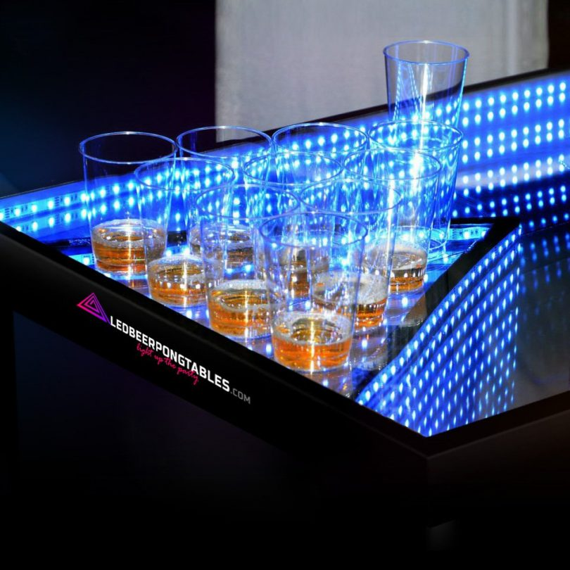 Infinity Glow L.E.D Beer Pong Table