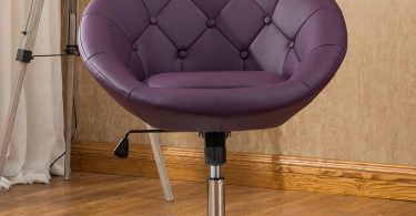 Roundhill Furniture PC165PL Noas Contemporary Round Tufted Back Tilt Swivel Accent Chair