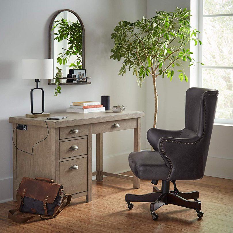 Stone & Beam Modern Metal Frame Living Room Table Lamp With Light Bulb